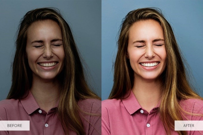 Contrast Lightroom Presets for Portraits-Before and After
