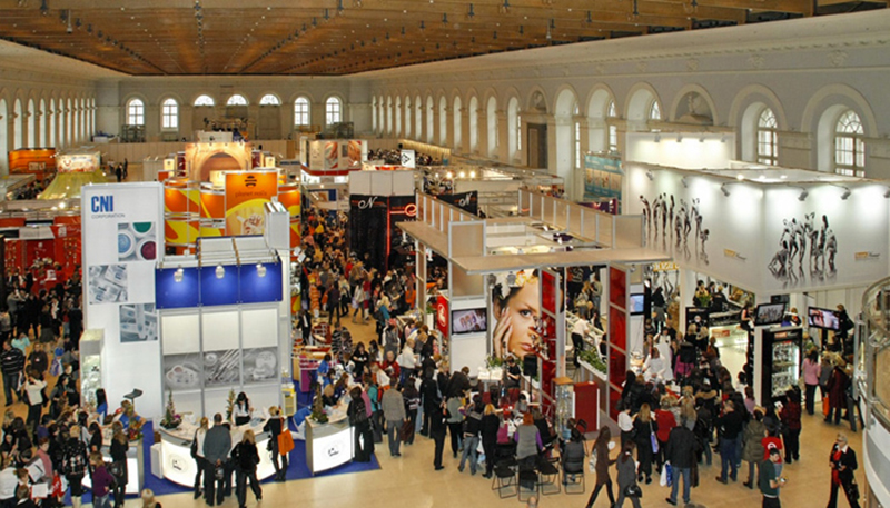 Exhibition stands at trade show