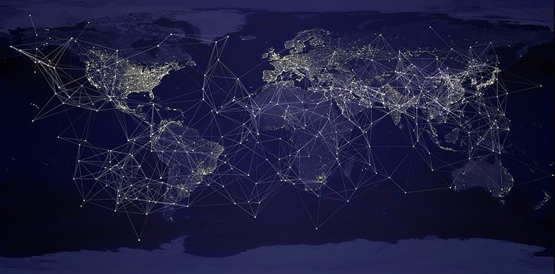 geographical information systems - earth globalisation network