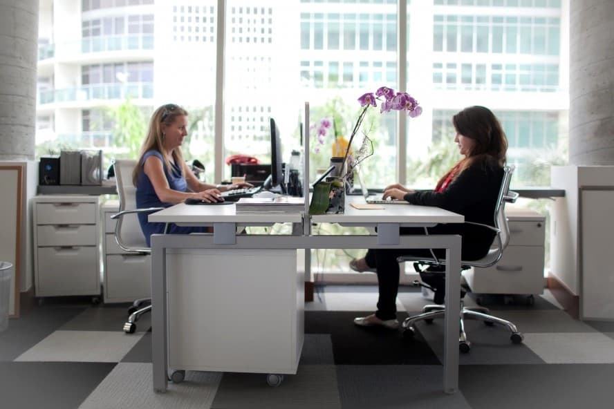 Two women at work in an office