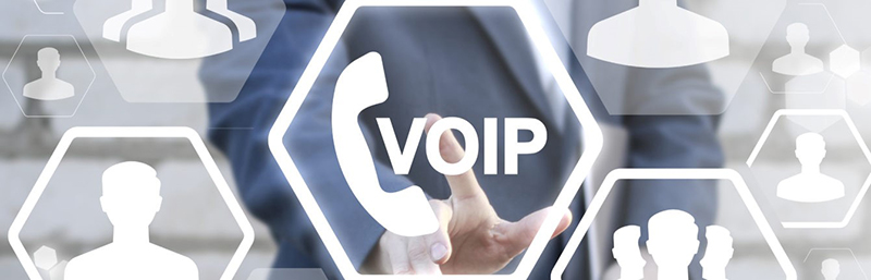 A man pointing VoIP illustrations