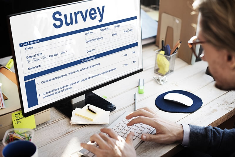 Survey Form Research Marketing Concept - multi-step form