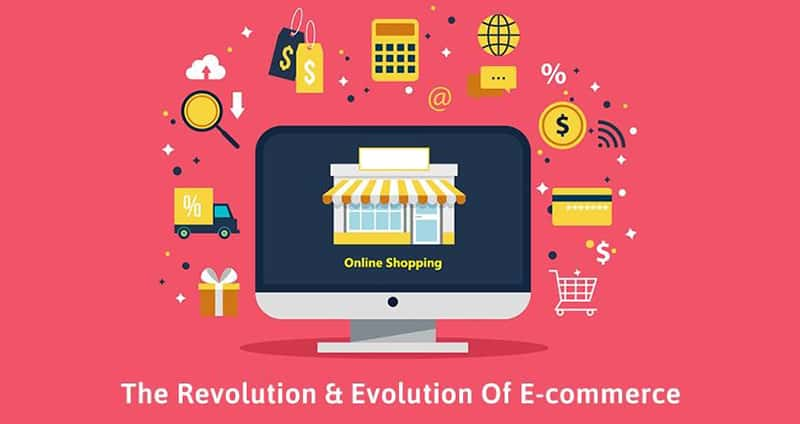 An illustration of e-commerce process