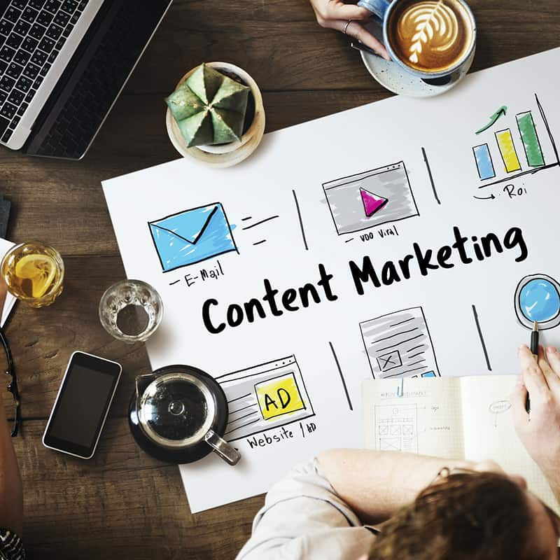 Online Strategy Media Marketing Icons - content marketing