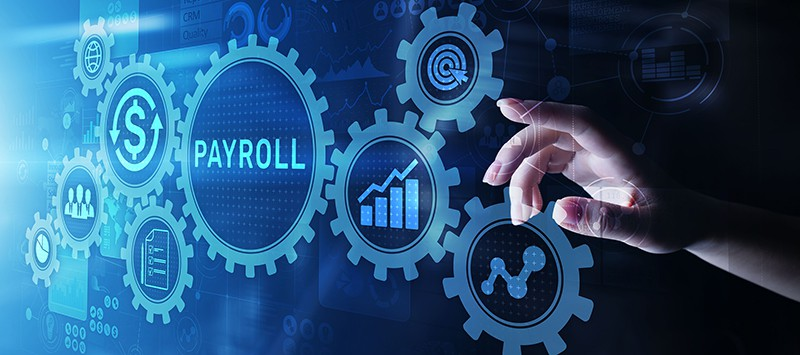 Cogs showing reasons for using payroll software