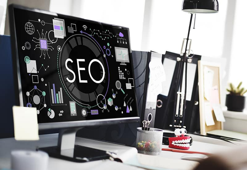 SEO Search Technology Business Webpage Concept