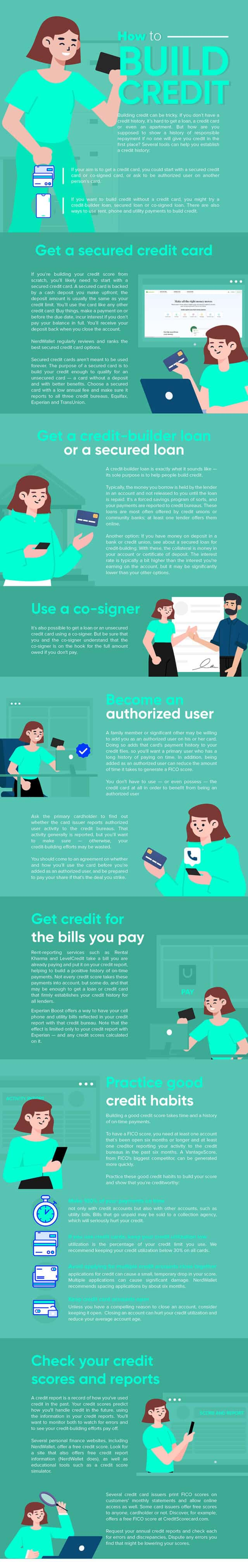 how to build your credit - infographic