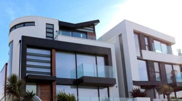 real estate – modern building against the sky