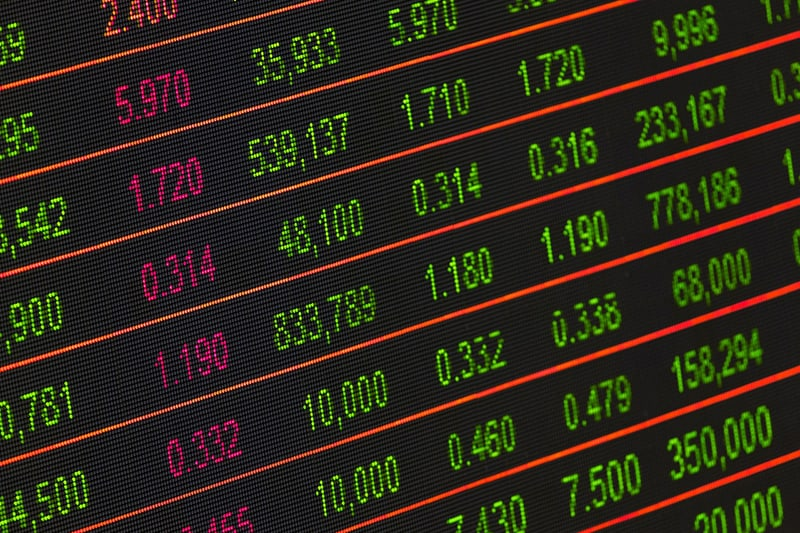 Stock exchange board - trading options