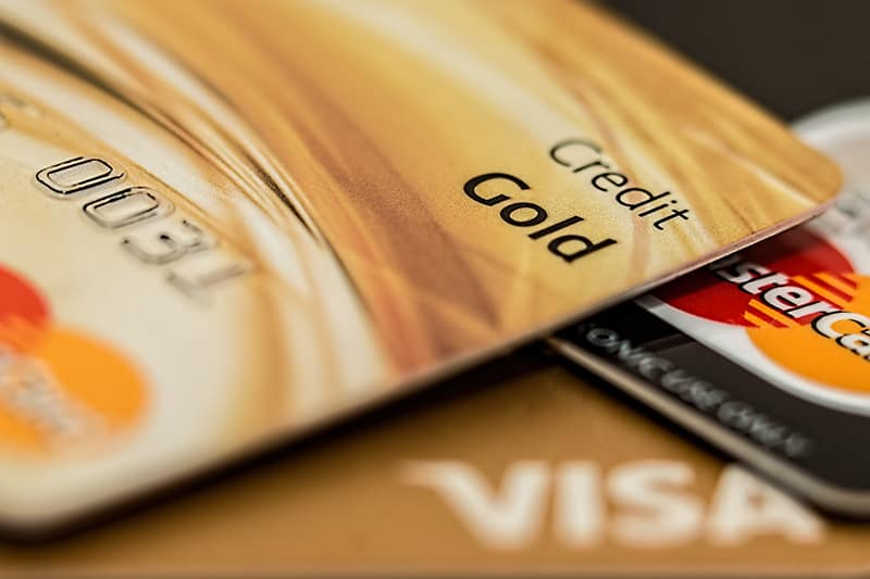 Gold visa master card