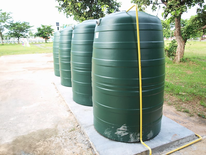 Green water container tank