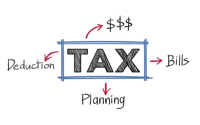 Tax deduction bill and planning illustration