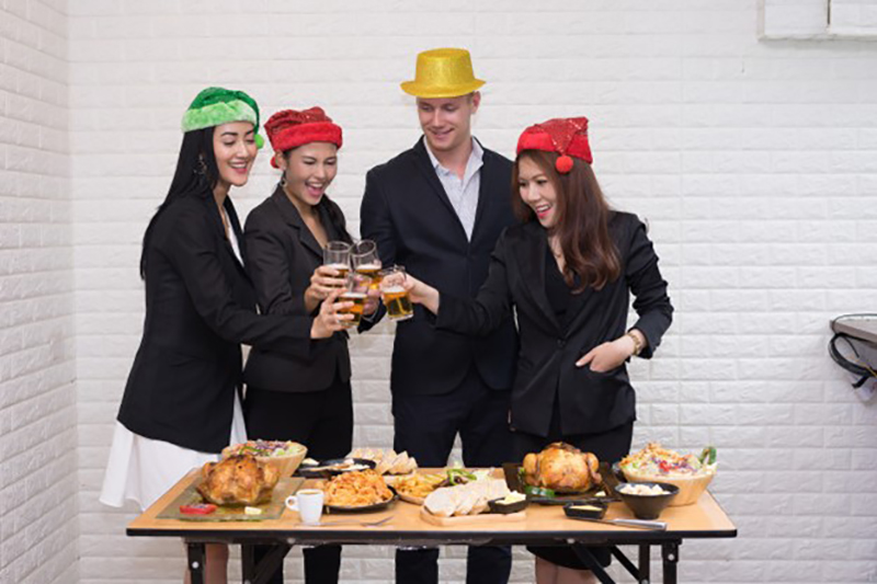 Business team celebration christmas party concept at office