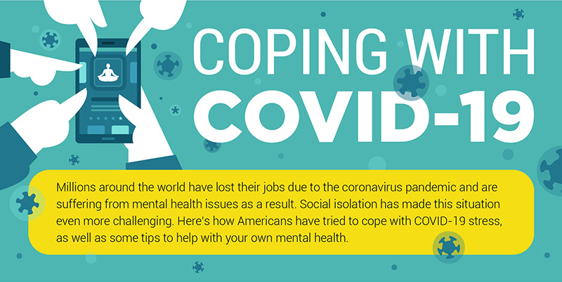 Online therapy helping people to cope with COVID 19