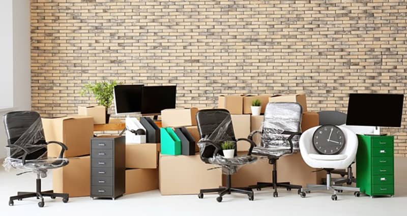 office packed up ready for an office move