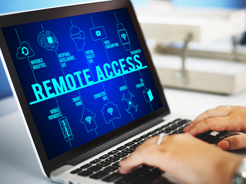 Remote Access Connected Technology Concept