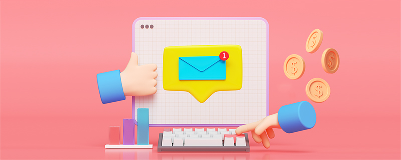 Laptop and email illustration
