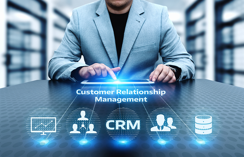CRM Customer Relationship Management Business Internet Technology Concept.
