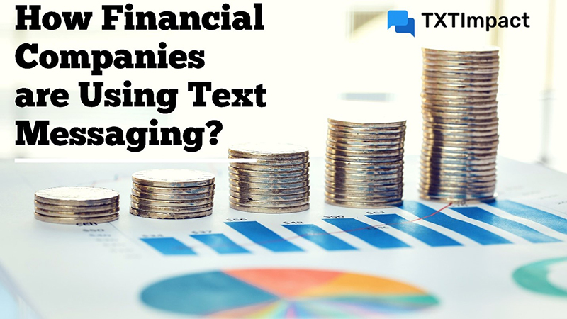 How financial companies are using text messaging - coins stacked on documents showing charts and graphs