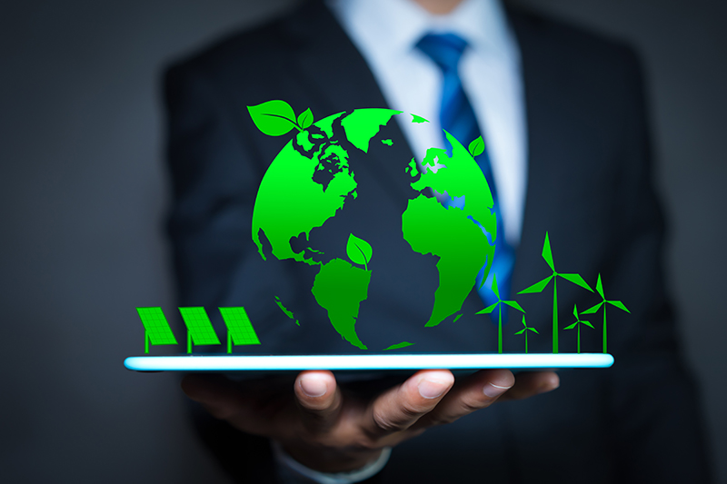 Businessman and environmental concepts