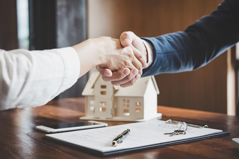 Real estate agent and client doing the hand shake
