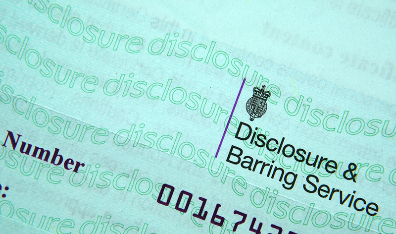 Authentic Disclosure & Barring Service certificate. DBS check in the UK prevent unsuitable people from working with vulnerable groups, including children.