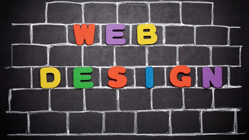 Colorful text of Web Design