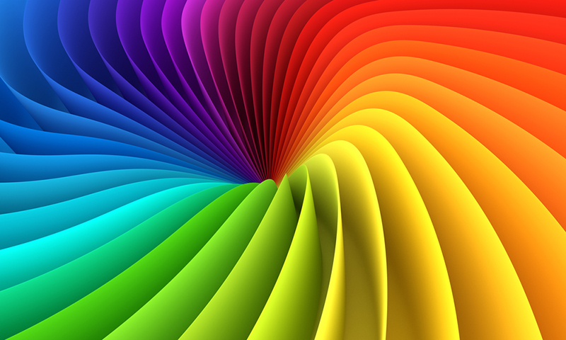 Spectrum. Abstract colorful structure. 3D rendering