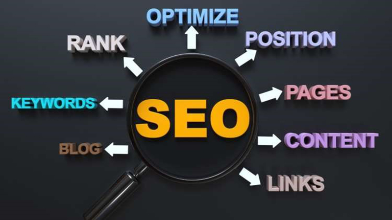 Magnifying and SEO concept