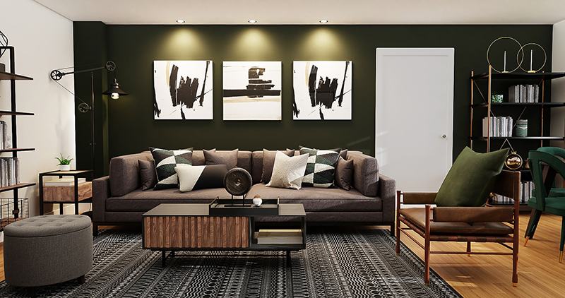 Black and white wall mounted painting photo