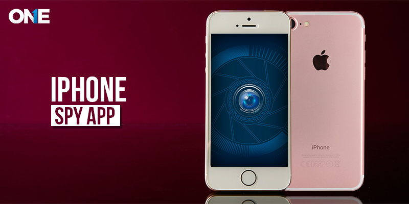 Iphone SpyApp with maroon background