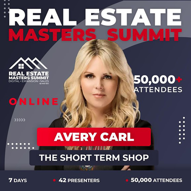 Avery Carl as a Real Estate Summit speaker