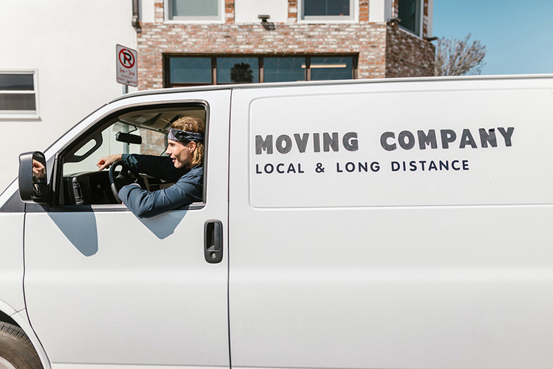 white van for moving company service