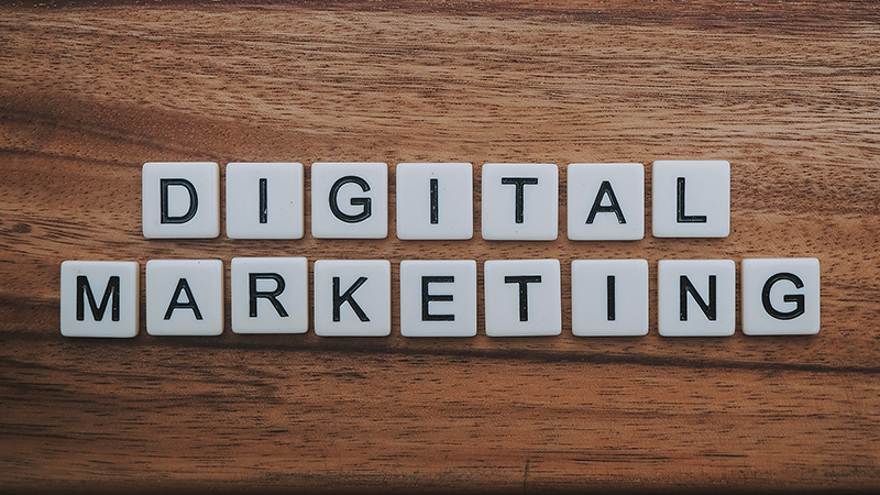 Digital marketing text in scrabble game