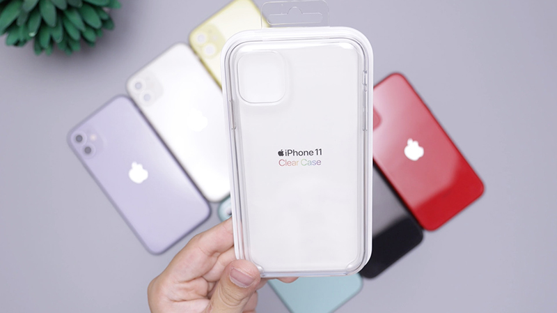 Person holding white iPhone case
