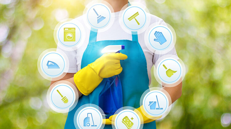 Cleaning services concept