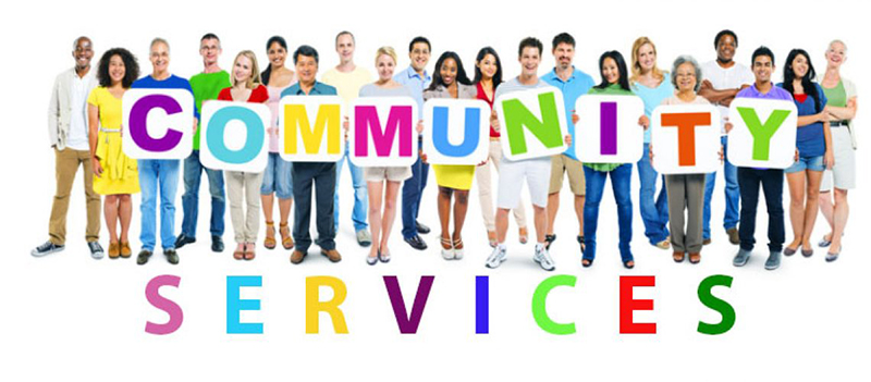 Community services with group of people