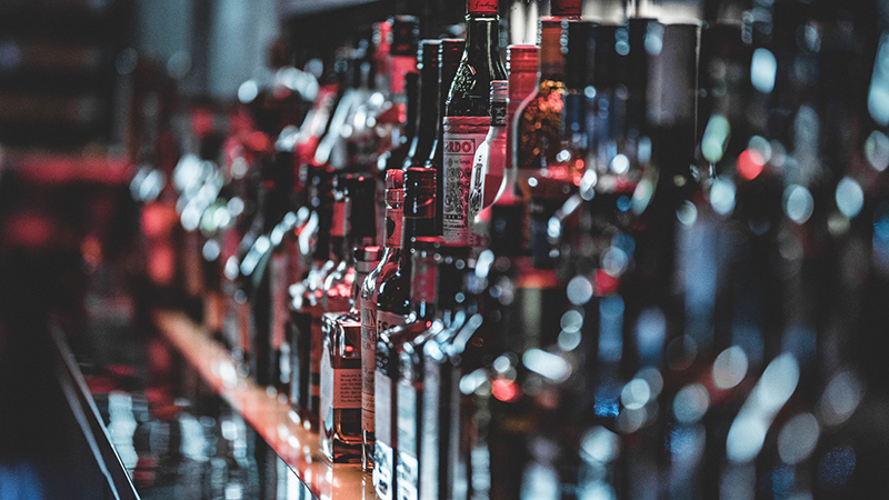 Selective focus photo of alcohol