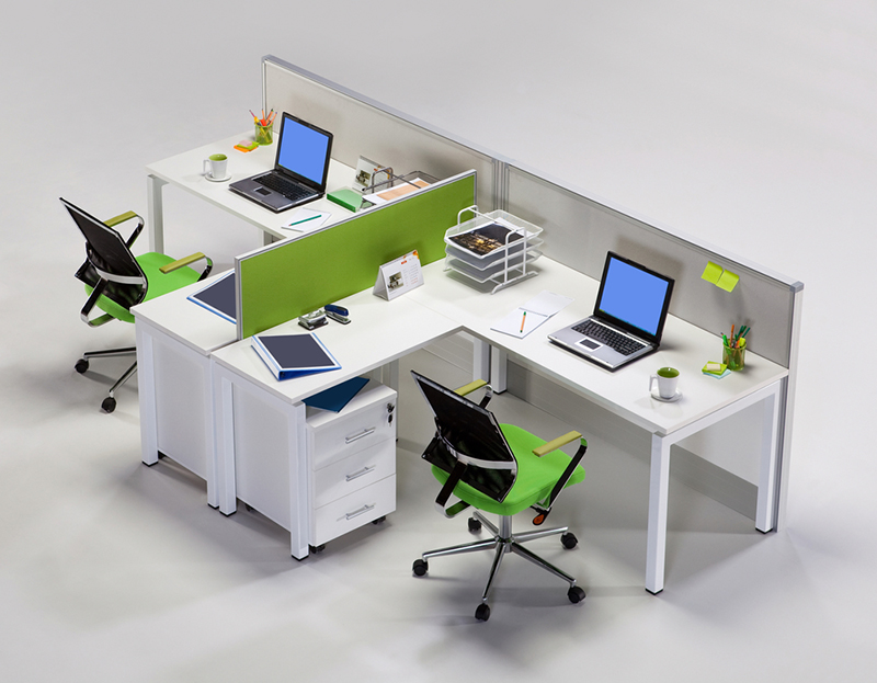 Office furniture top view - office design
