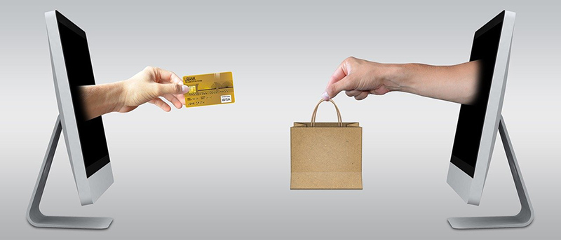 Ecommerce selling online concept