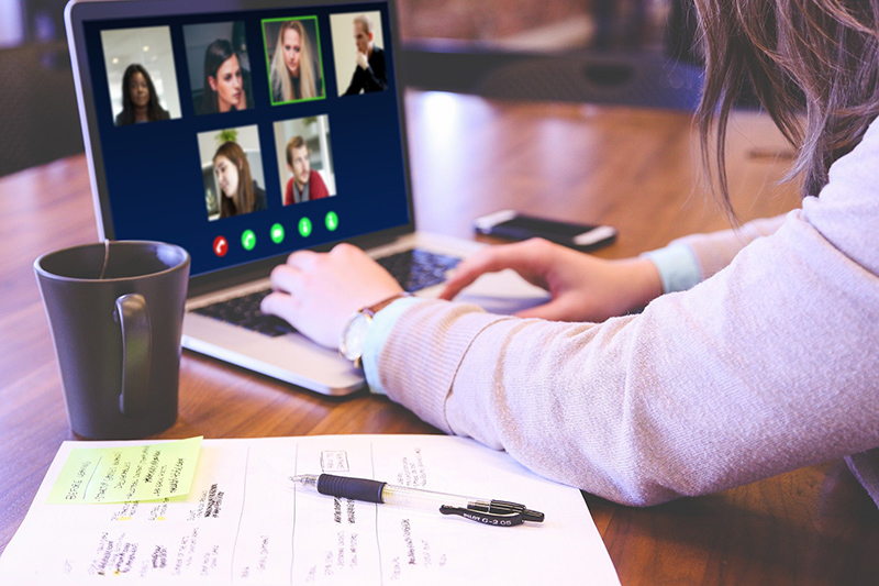 Video conference through skype
