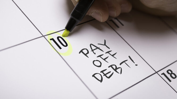 calendar schedule for paying debt