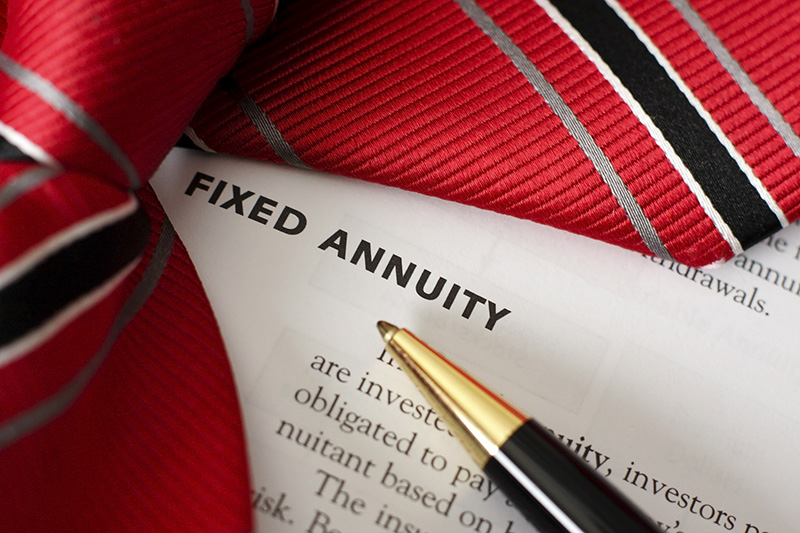 Fixed annuity written in a document