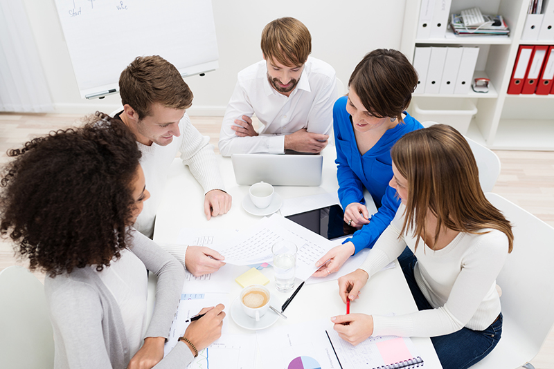 Multiethnic business team in a meeting