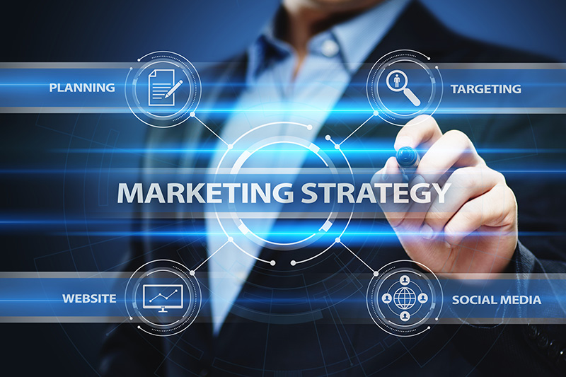 Businessman and marketing strategy concept