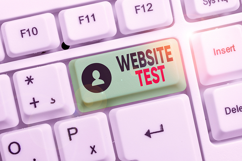Business concept for test the websites or web applications for potential bugs White pc keyboard
