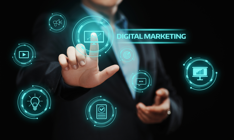 Digital Marketing Content Planning Advertising Strategy concept