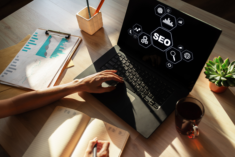 SEO - Search engine optimization concept on screen