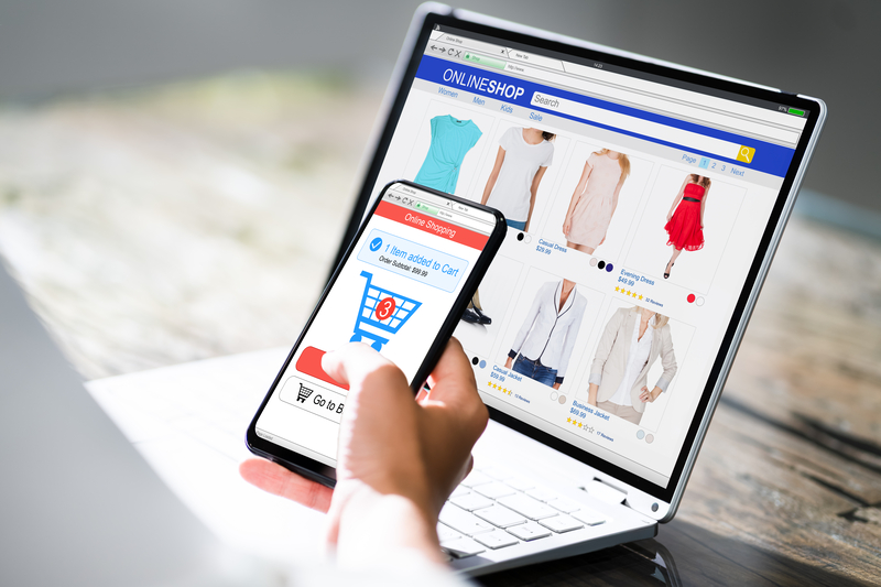 Online Ecommerce Shopping Website Or Store On Smartphone Screen