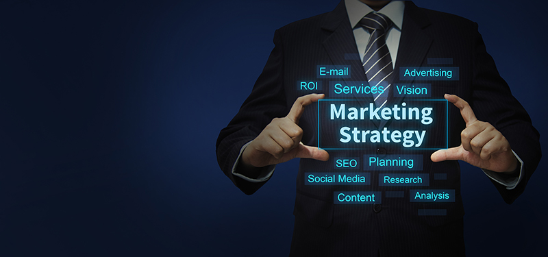 Marketing strategy concept